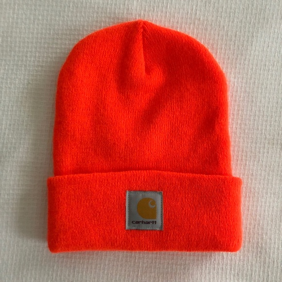 Carhartt Accessories - Carhartt Fluorescent Orange Knit Beanie Watch Cap e9411280ce1a